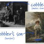 Cobbler and barefoot boy