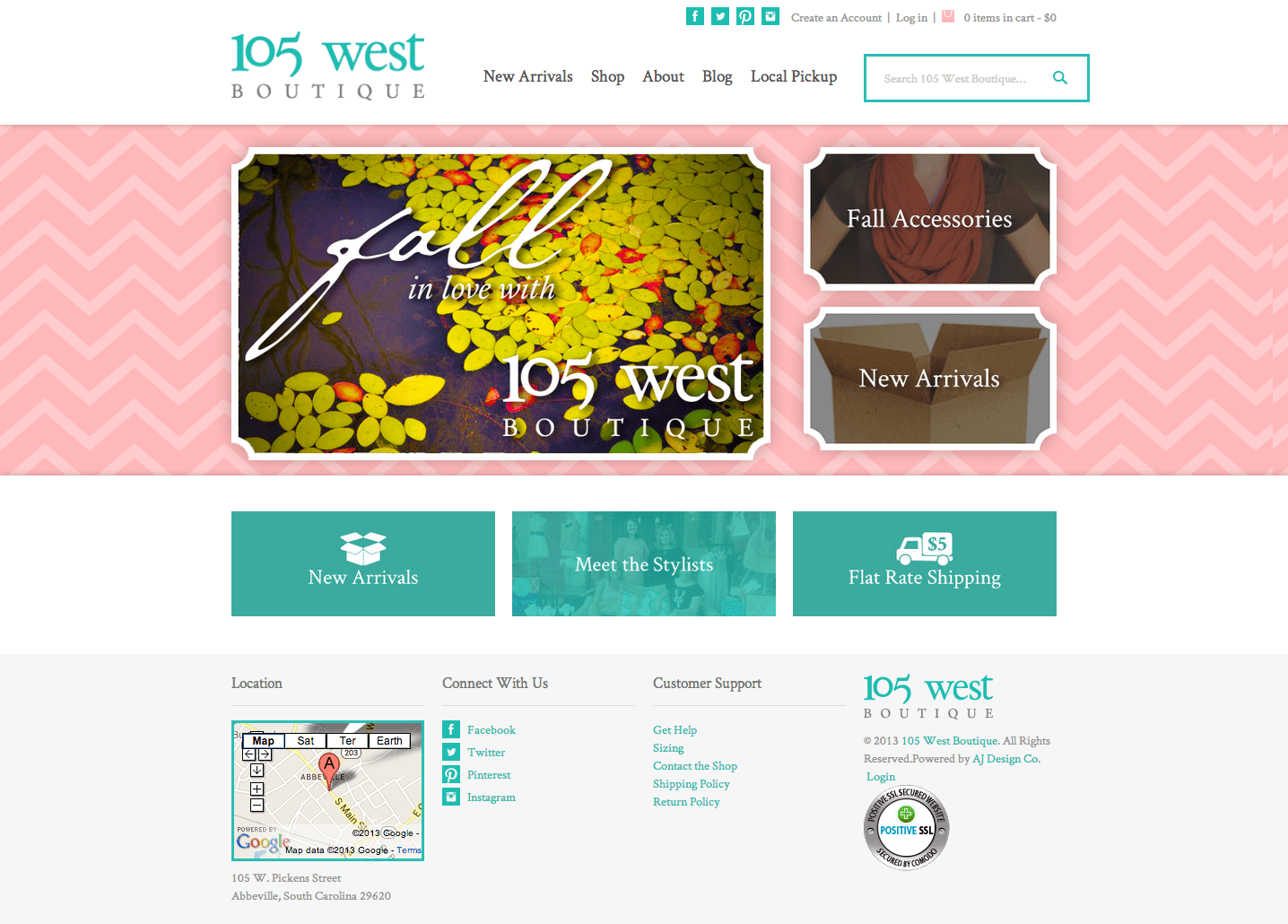 105westboutique.com screenshot