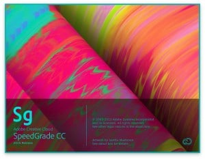 Adobe SpeedGrade CC 2015 Release Splash Screen