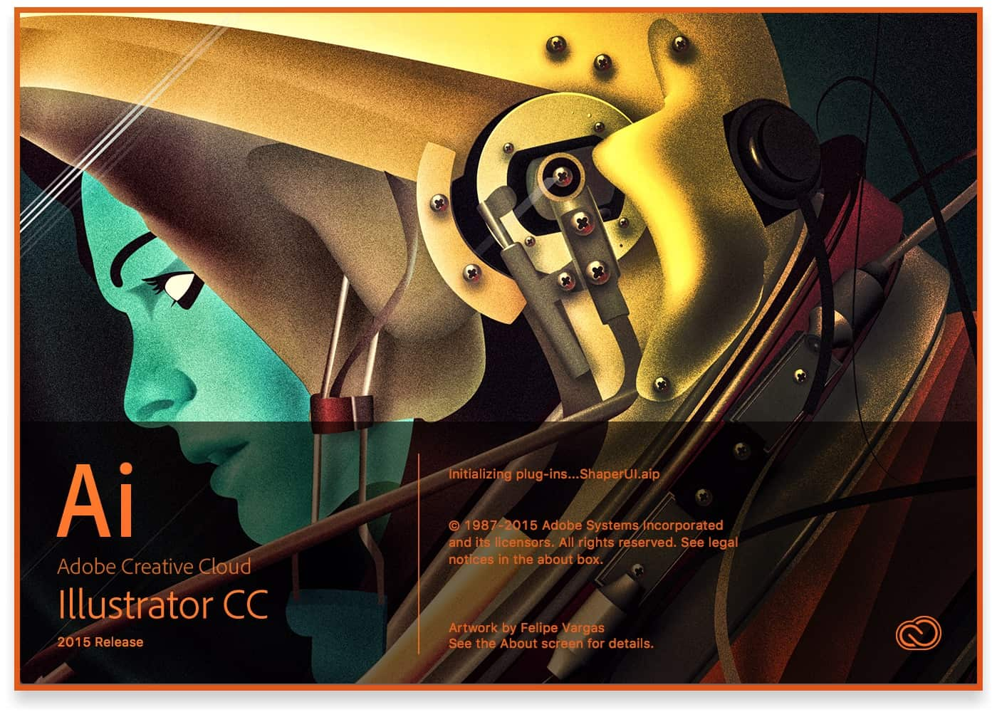 Adobe Illustrator CC 2015 (December) Splash Screen