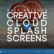 Adobe Creative Cloud 2017 Release Splash Screens Roundup