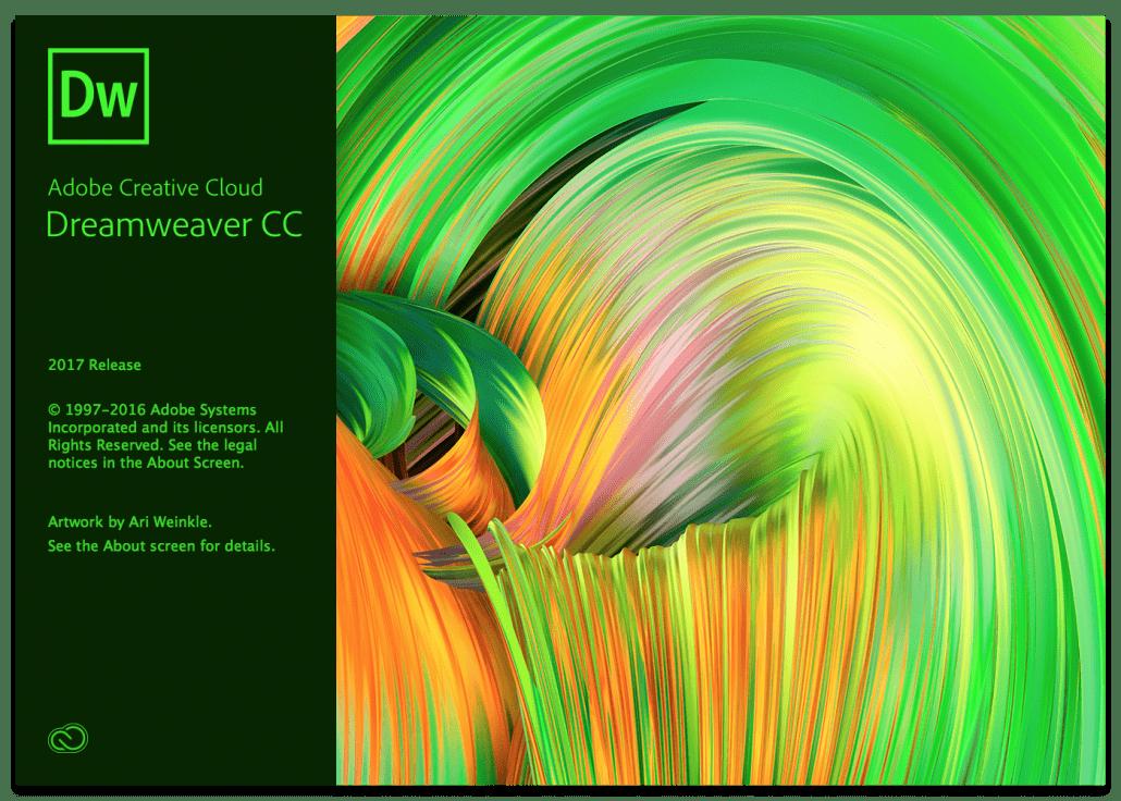 Adobe Dreamweaver 2017 Splash Screen