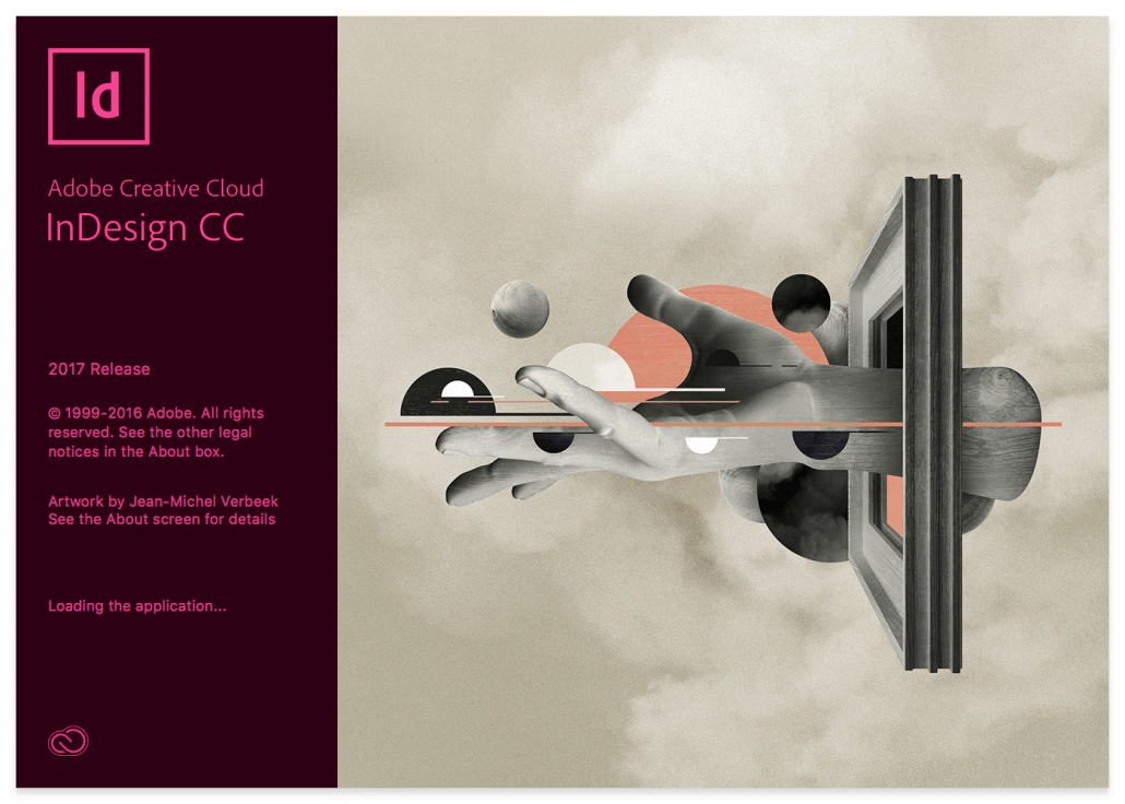Adobe InDesign 2017 Splash Screen