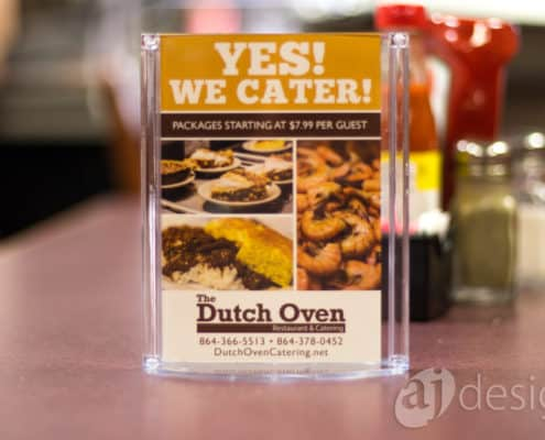Dutch Oven catering promo card